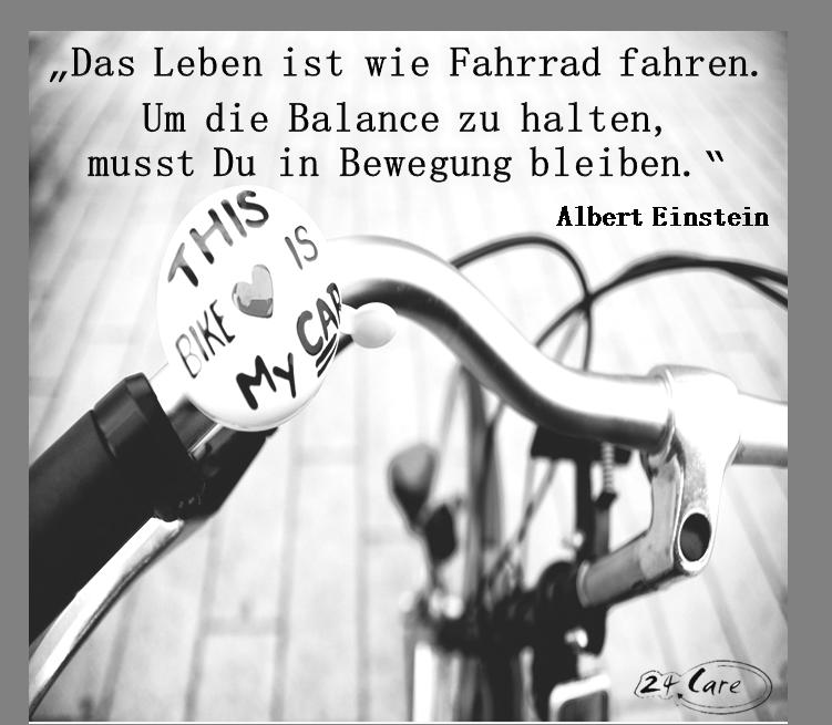 Leben ist wie Fahrrad fahren